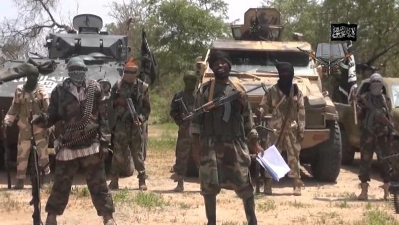 La police accuse déjà la secte extrémiste Boko Haram (capture d'écran d'une vidéo du groupe islamiste nigérian le 13 avril 2014). AFP PHOTO / BOKO HARAM