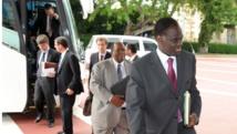 Michel Kafando au premier plan, en 2008, alors qu'il était ambassadeur du Burkina Faso aux Nations unies AFP/Issouf Sanogo