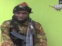 Le leader de Boko Harma Aboubakar Shekau dans la sordide vidéo diffusée le lundi 12 mai. AFP PHOTO / BOKO HARAM