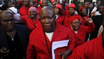 Julius Malema à la sortie du Parlement, le 21 août 2014. REUTERS/Mike Hutchings