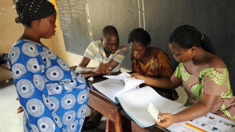Un bureau de vote à Cotonou lors de la présidentielle du 13 mars 2011. AFP/PIUS UTOMI EKPEI