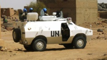 Patrouille de l'ONU à Kidal, le 17 juillet 2013. REUTERS/Stringer