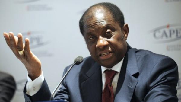 Alexis Thambwe Mwamba a été nommé à la tête du ministère de la Justice (ici à Paris, le 23 décembre 2008). AFP PHOTO BERTRAND GUAY