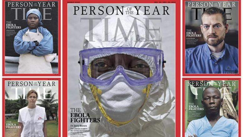 Les différentes couvertures du Time du 10 décembre, consacré à la personnalité 2014. REUTERS/TIME/Handout via Reuters