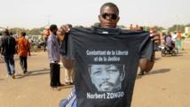 Un manifestant burkinabè présent à la cérémonie du souvenir de Norbert Zongo, le 13 décembre 2014, à Ouagadougou