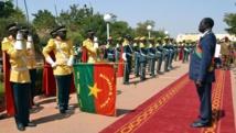Le président burkinabè, Michel Kafando, lors de sa prestation de serment à Ouagadougou, le 18 novembre 2014. AFP PHOTO / ROMARIC HIEN