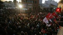 Des milliers de partisans sont venus écouter le disours de Moncef Marzouki après sa défaite au second tour de l'élection présidentielle, le 23 décembre 2014, à Tunis. REUTERS/Zoubeir Souissi