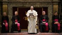 Le pape François a été très critique envers le gouvernement de l'Eglise lors de son allocution de Noël, le 22 décembre 2014.