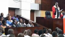 La salle d'audience, le 26 décembre 2014. Simone Gbagbo y est jugée, avec 81 co-accusés, pour «atteinte à la sureté de l'Etat». AFP PHOTO / SIA KAMBOU