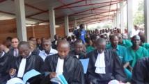 Le procès en appel des militants du parti d'opposition burundaise MSD (photo ici du lundi 27 octobre 2014) se tient dans la prison de Bujumbura. Esdras Ndikumana