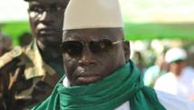 Le président gambien Yahya Jammeh (ici en 2011) était absent du pays quand la tentative de coup d'Etat a eu lieu ce mardi 30 décembre. AFP PHOTO / SEYLLOU
