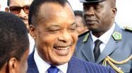 Le président congolais Denis Sassou Nguesso, à son arrivée à l'aéroport international de Bole (Addis-Abeba), le 29 janvier 2014. REUTERS/Tiksa Negeri
