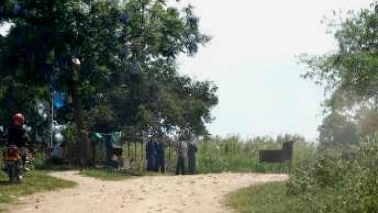 Pour mener leur attaque contre la rébellion, les forces de l'ordre burundaises sont passées par la RDC (ici vue de Vugizo, le dernier poste-frontière burundais avant d'entrer en RDC). RFI/Esdras Ndikumana