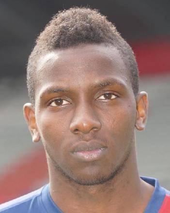 Christopher Maboulou, l'attaquant congolais retiré de la liste des 26 joueurs présélectionnés.