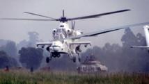 Des hélicoptères de la Monusco sont entrés en action contre des combattants FNL, dans l'est de la RDC, lundi 5 janvier 2015 à l'aube. Photo MONUSCO/Force