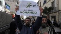 Entre 2000 et 3000 personnes ont manifesté vendredi 16 janvier à Alger contre l'hebdomadaire «Charlie Hebdo». AFP PHOTO