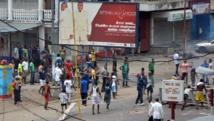 Manifestation contre l'adoption d'une nouvelle loi électorale, à Kinshasa, RDC, le 19 janvier 2015. AFP PHOTO/ PAPY MULONGO