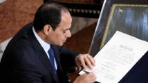 L'Egypte du président Abdel Fattah al-Sissi a multiplié les hommages au souverain saoudien Abdallah, mort ce vendredi 23 janvier 2015. AFP PHOTO / EGYPTIAN PRESIDENCY