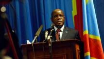 Aubin Minaku, président de l'Assemblée nationale de la RDC. AFP PHOTO/Junior D.Kannah