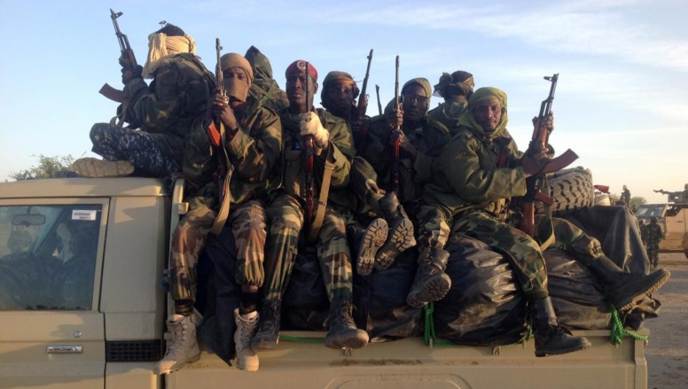 Des soldats tchadiens à la frontière entre le Nigeria et le Cameroun, le 21 janvier 2015, pour combattre Boko Haram. AFP PHOTO / ALI KAYA
