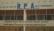Le siège de la radio burundaise RPA dirigée par le journaliste emprisonné Bob Rugurika. http: //www.rpa-burundi.org/