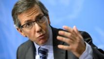 Le représentant du secrétaire général des Nations unies pour la Libye, Bernardino Leon, le 14 janvier 2015, à Genève. AFP PHOTO / FABRICE COFFRINI