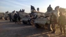 Des troupes tchadiennes à la frontière entre le Nigeria et le Cameroun, le 21 janvier 2015. AFP PHOTO / ALI KAYA