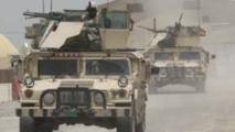 Des véhicules de l'armée irakienne