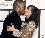 Grammy Awards : Kim Kardashian et Kanye West amoureux hot, avant la frayeur