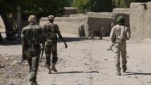 Soldats de l'armée du Niger en patrouille à la frontière sud du pays. RFI/ Nicolas Champeaux