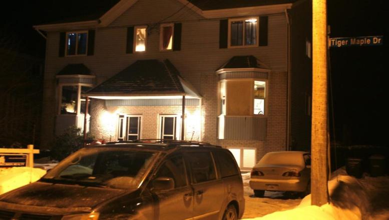 La maison dans laquelle le corps sans vie d'un jeune homme a été retrouvé. Avec des complices, il aurait projeté de tirer dans la foule à Halifax, le jour de la Saint-Valentin.