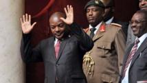 Le président burundais Pierre Nkurunziza soutient mordicus son droit à briguer un nouveau mandat. AFP/Pierre Andrieu