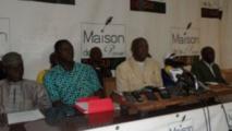 Les représentants du SNMRVG, le Syndicat National des Militaires Retraités et Veuves de Guinée, à Coleah, lundi 23 février