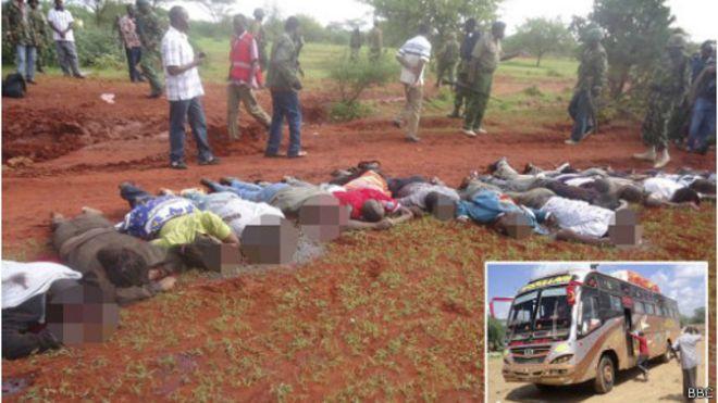 Fin 2014, le groupe armé a tué 28 passagers non-musulmans d'un bus près de Mandera.