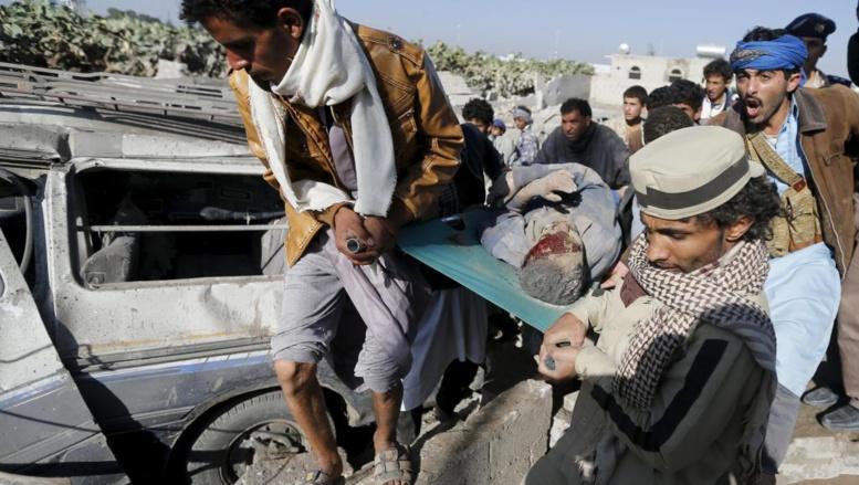 Les bombardements de l'opération «Tempête de fermeté» sur Sanaa, la capitale du Yémen, ont fait des victimes ce jeudi 26 mars. REUTERS/Khaled Abdulla
