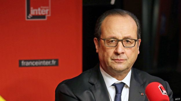 - Francois Hollande, président de la République francaise