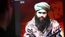 Abdelmalek Droukdel, chef d'Aqmi, sur l'écran d'un groupe de surveillance américain de terrorisme à Paris, en 2010. AFP/THOMAS COEX
