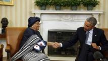 Le président américain Barack Obama et la présidente du Liberia Ellen Johnson Sirleaf, s'étaient déjà rencontrés le vendredi 27 février à la Maison Blanche.