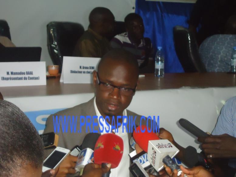 Thierno Dramé président de la Convention des jeunes reporters du Sénégal (Cjrs). PHOTO/Ibrahima Mansaly