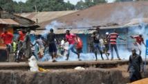 Une vingtaine de personnes ont été blessées selon l'opposition lors des manifestations du lundi 4 mai auxquelles la police a riposté avec des gaz lacrymogènes. AFP/Cellou Binani