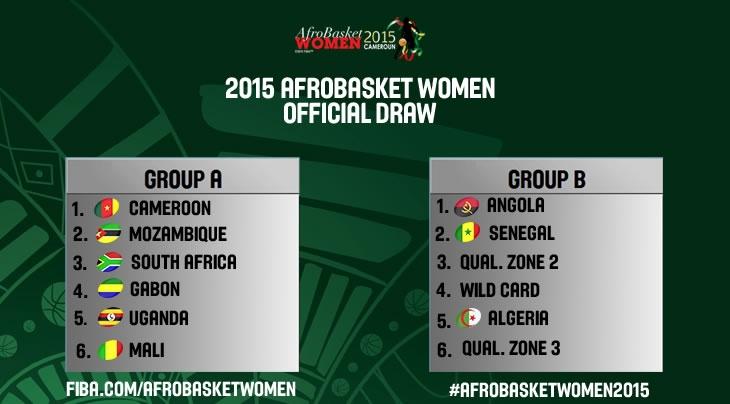 """Afrobasket féminin 2015: les """"Lionnes"""" connaissent leurs adversaires"""