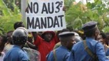 Les manifestants contre le 3ème mandat de Pierre Nkurunziza
