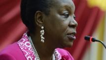 Catherine Samba-Panza est la présidente de la transition en Centrafrique depuis le 20 janvier 2014. AFP PHOTO / Eric FEFERBERG