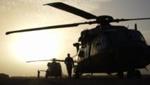 Des hélicoptères de l'armée française photographiés en janvier 2015 à Goa, au Mali. AFP PHOTO / DOMINIQUE FAGET