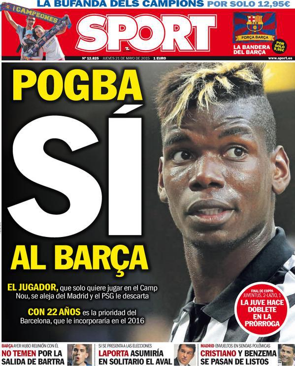 Transfert : Paul Pogba aurait dit «oui au Barça»...selon la presse espagnole