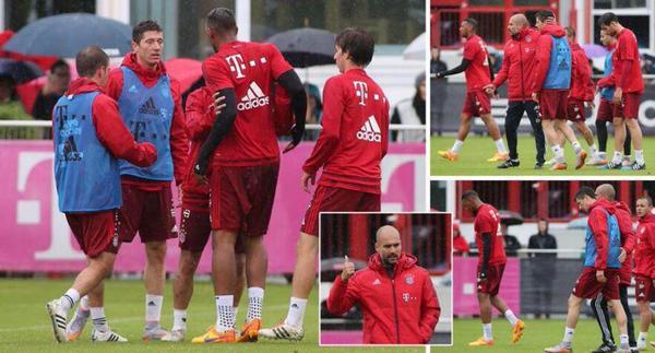 Bayern Munich : Altercation entre Boateng et Lewandowski qui ont été envoyés aux vestiaires par Guardiola