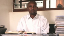 Zedi Feruzi, président de de l'UPD, photographié à son bureau de Bujumbura le 13 janvier dernier. RFI / Charlotte Cosset