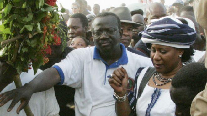 Mariam, la veuve de Thomas Sankara, ce mois-ci, à Ouagadougou, où elle a été auditionnée par la justice burkinabè.