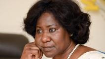 Mariam Sankara, la veuve de l'ancien président Thomas Sankara, le 20 mai 2015 à Ouagadougou. C'est la deuxième fois que l'ex-première dame retourne au Burkina pour témoigner sur l'assassinat de son mari dans un coup d'Etat de 1987.