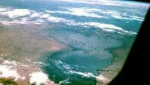 Vue aérienne du lac Tchad. wikipedia